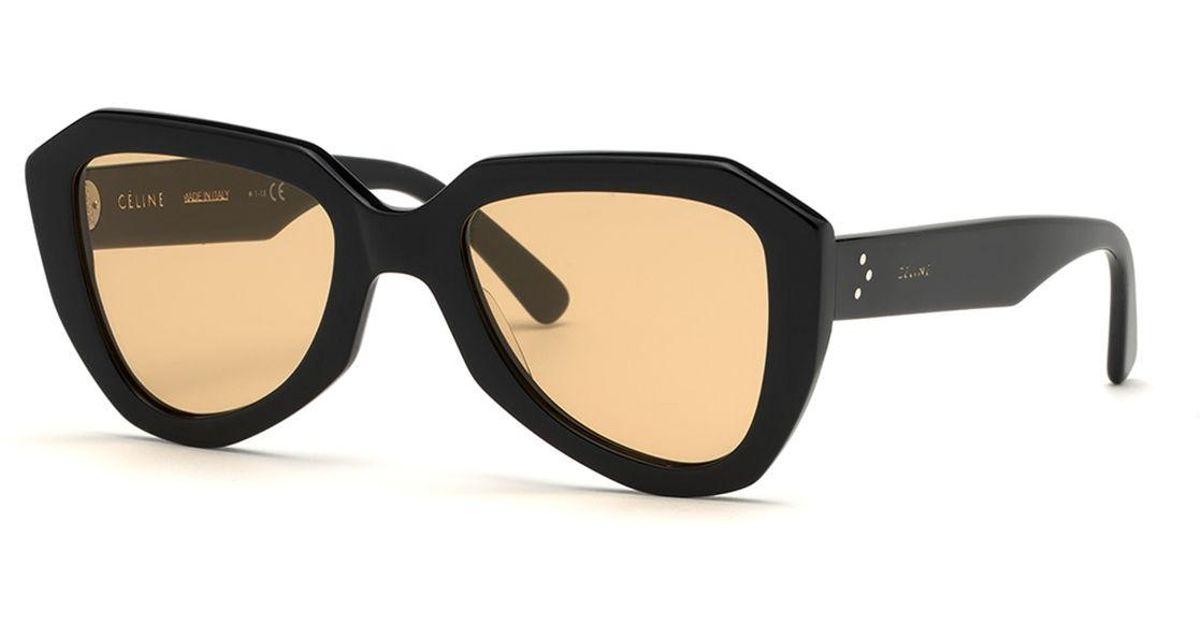0aedda7736 Céline Acetate Aviator Sunglasses in Black - Lyst