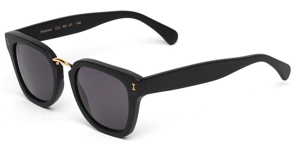 d0e7dd0807 Lyst - Illesteva Positano Square Polarized Sunglasses in White