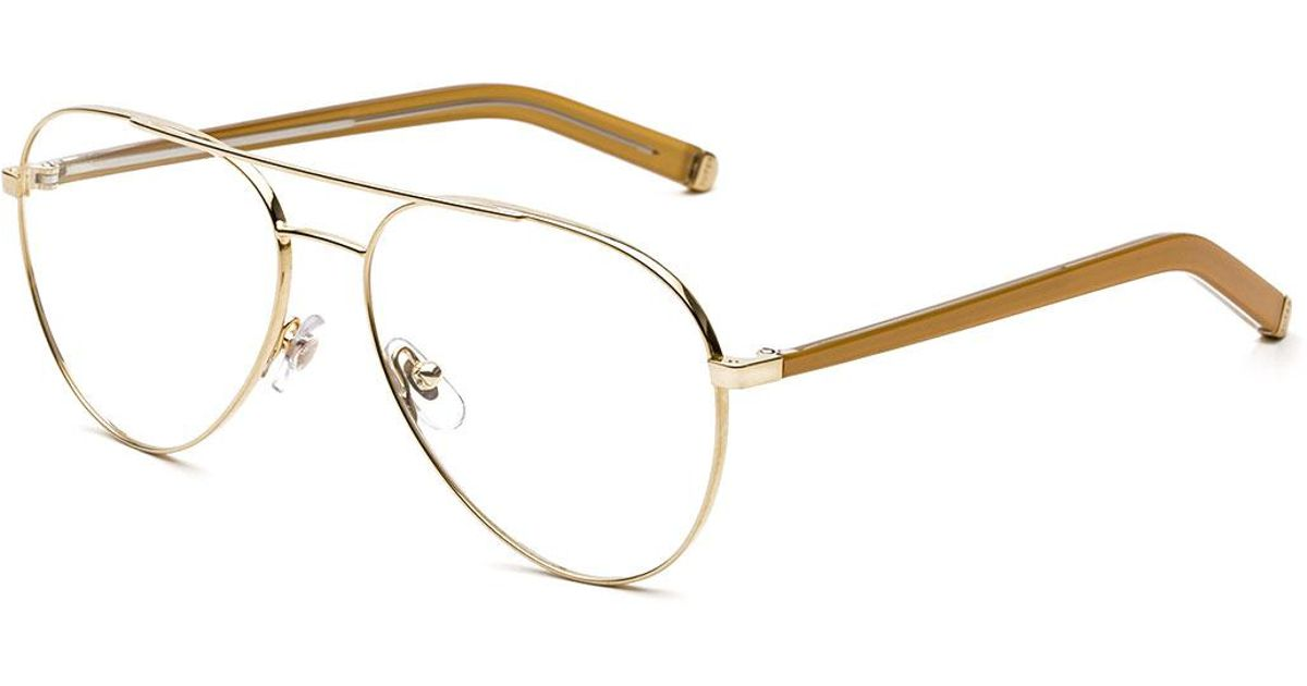 Lyst - Retrosuperfuture Numero 34 Oro Aviator Optical Frames in Metallic