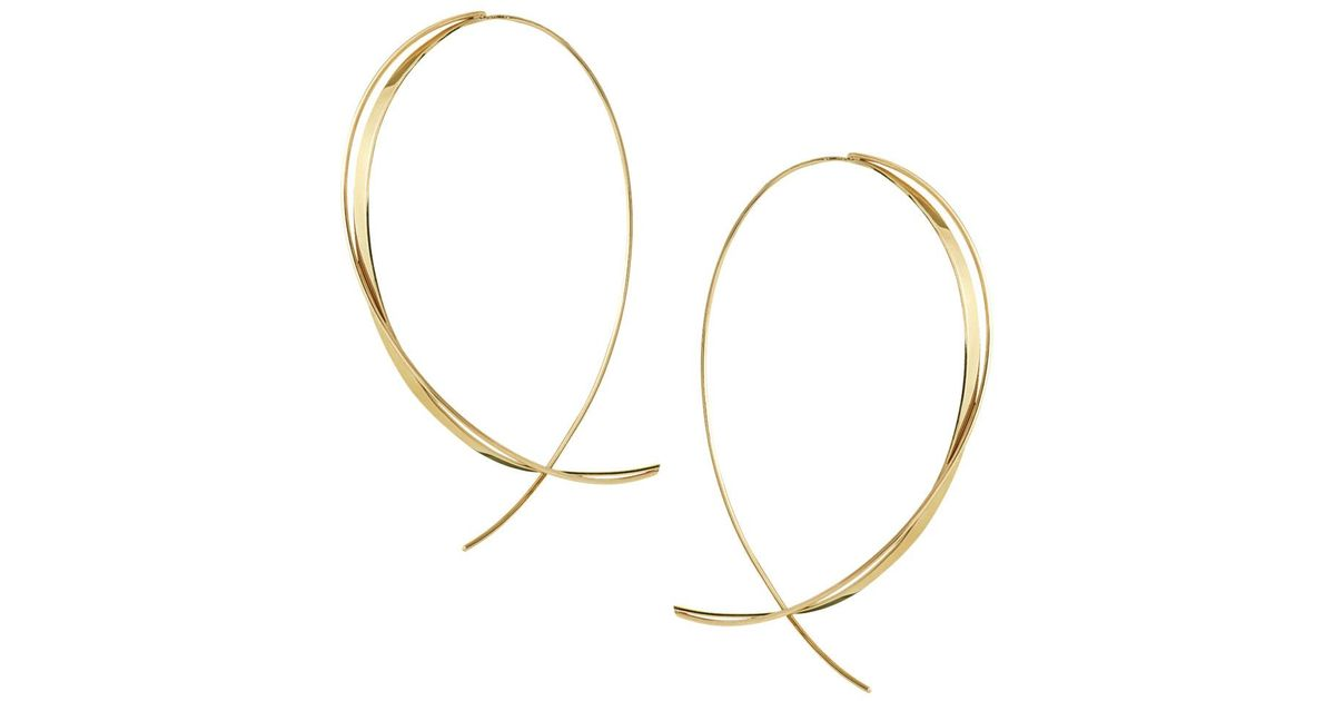Lana Jewelry Fifteen 14K Small Upside Down Twist Hoop Earrings fiTYd8IApc