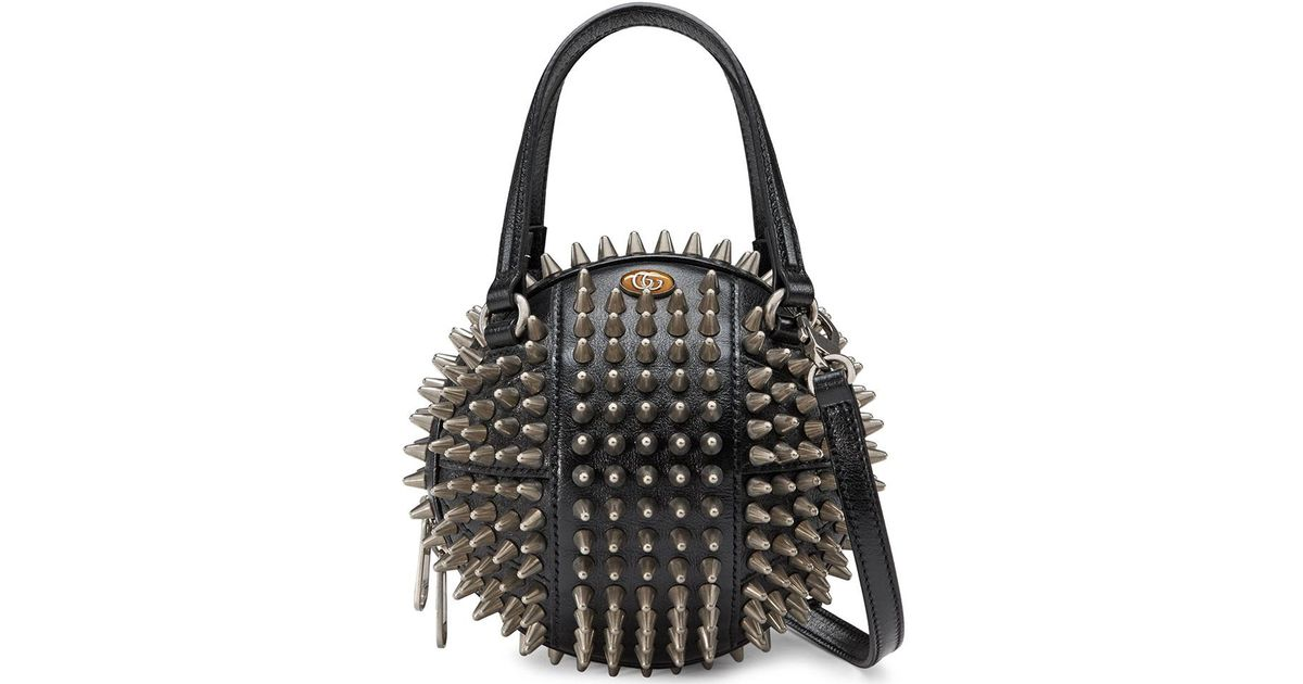 09f34a23cf30 Gucci Tifosa Basketball Studded Leather Shoulder Bag in Black - Save 17% -  Lyst
