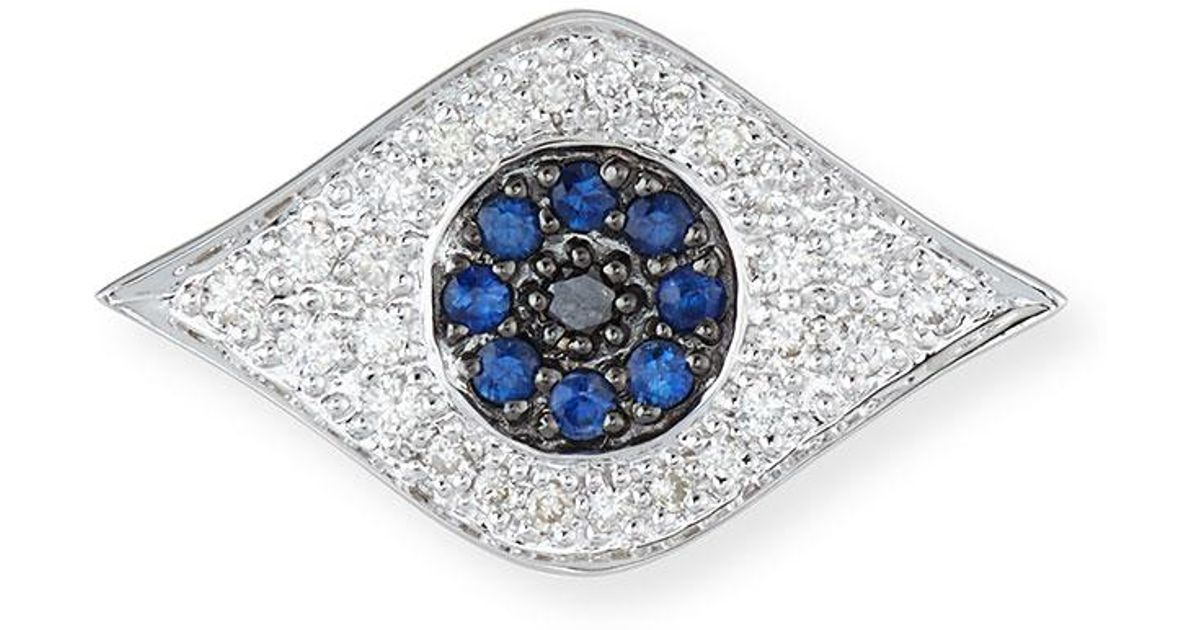 Sydney Evan Large Evil Eye Single Stud Earring cAxgxFz