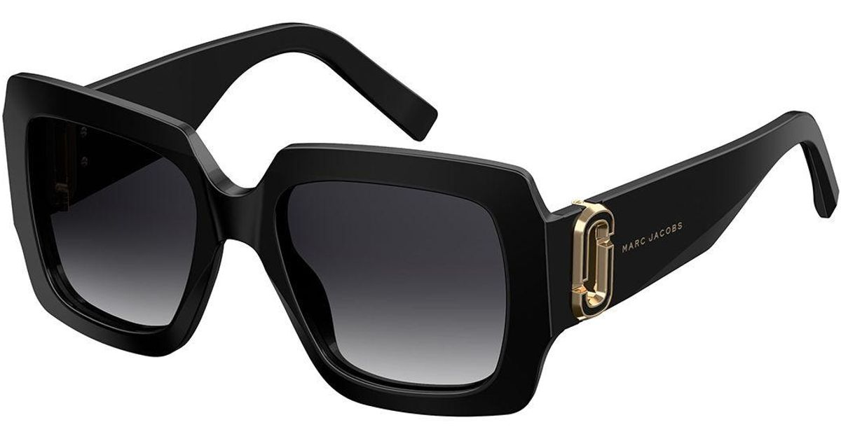 8511b0d40f61 Marc Jacobs Chunky Square Acetate Sunglasses in Black - Lyst