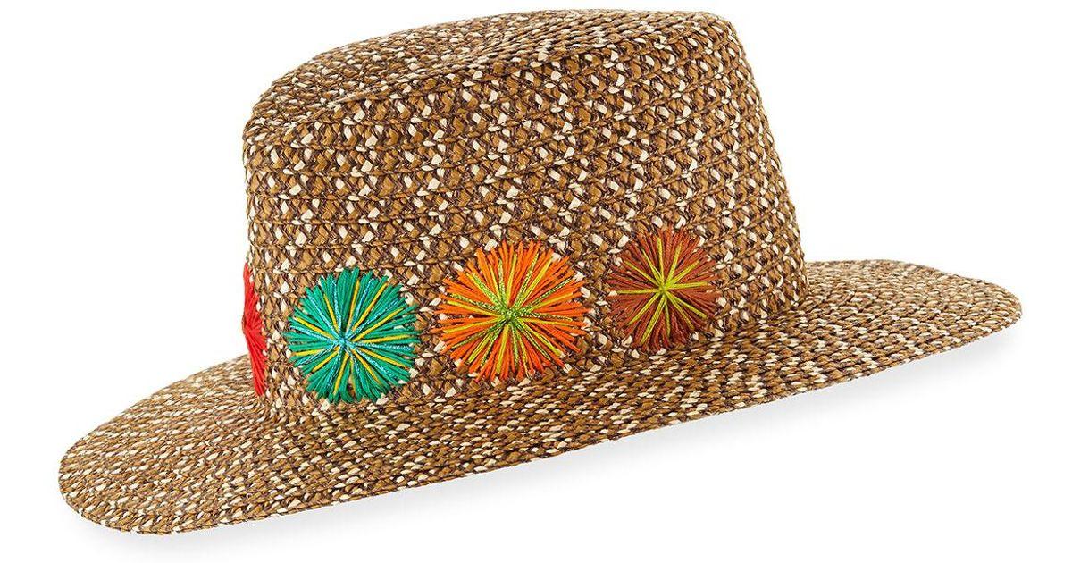 1765ce83d565b Lyst - Eric Javits Zanzibar Packable Squishee Sun Fedora Hat in Brown