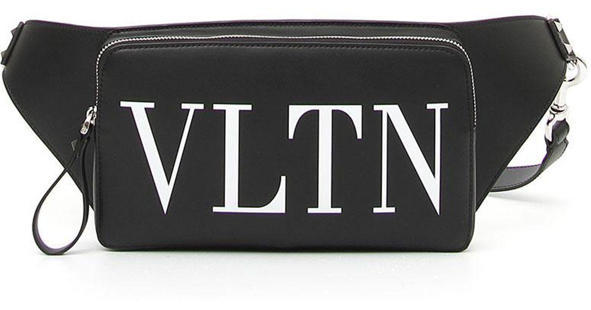 cce37370fa0fc Valentino Men's Vltn Logo Leather Crossbody Bag in Black for Men - Lyst