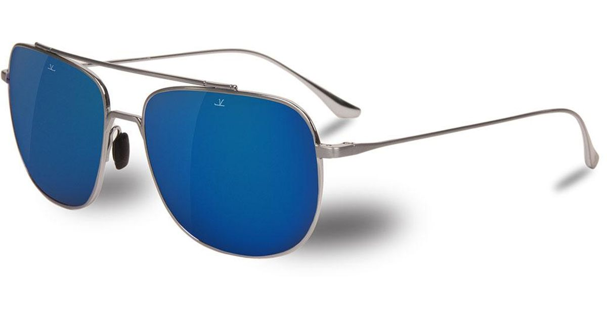 dfd187b705c Lyst - Vuarnet Swing Titanium Rectangular Aviator Sunglasses in Metallic  for Men