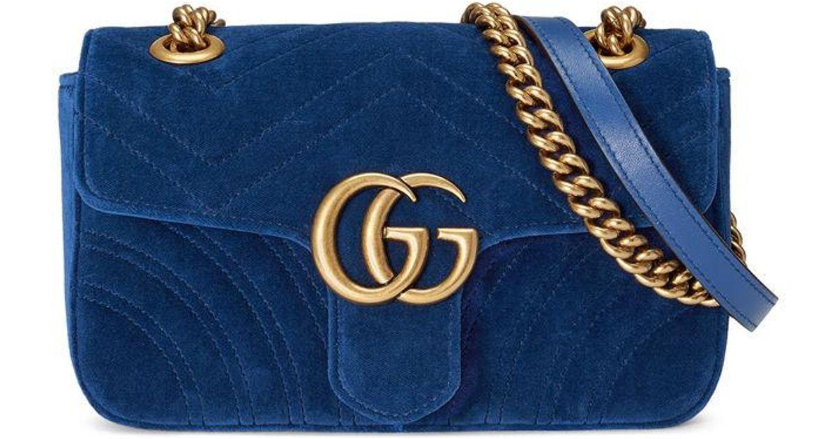 5a7b3c8f60d8 Gucci Gg Marmont 2.0 Suede Shoulder Bag - Lyst