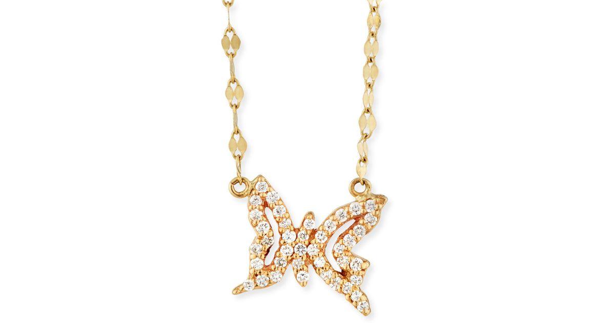 Lana jewelry Girls\' Diamond Butterfly Pendant Necklace in Metallic ...