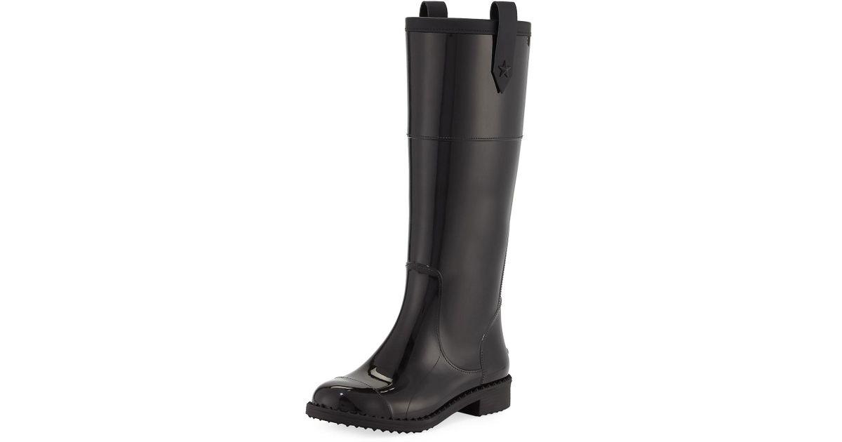 f6afb02313 Jimmy Choo Edith Tall Rubber Rain Boot in Black - Lyst