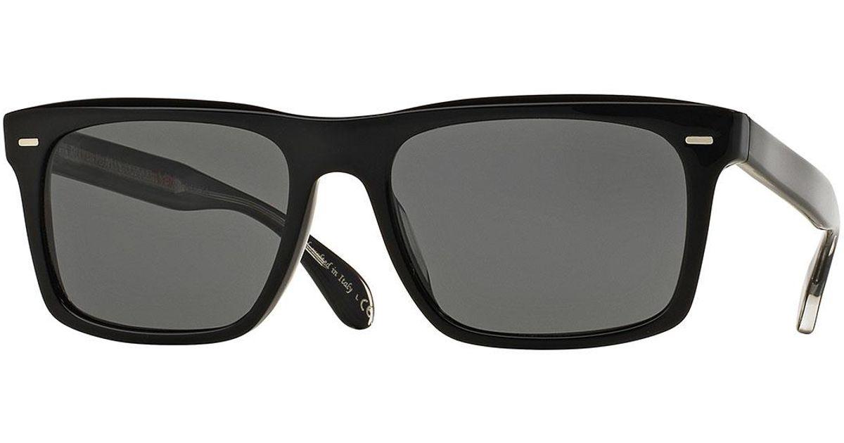 570fb78aec Lyst - Oliver Peoples Brodsky 55 Vfx+ Polarized Sunglasses in Black