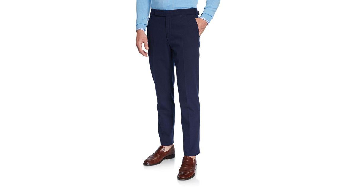 11f1fb6eb Lyst - Ralph Lauren Men s Rlx Gregory Flat-front Pants in Blue for Men