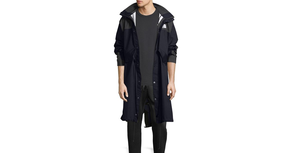 55fdd9f4011db Lyst - Sacai The North Face® Long Parka Coat in Blue for Men