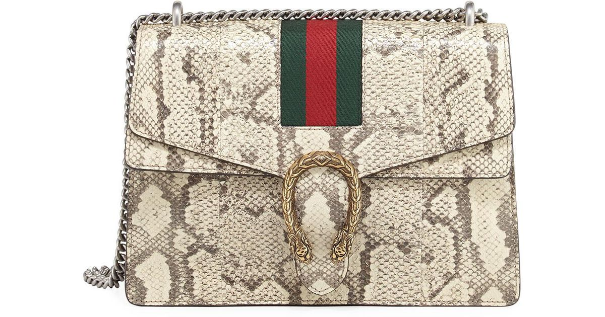 5fd5d1d83e Gucci Dionysus Medium Python Shoulder Bag - Lyst