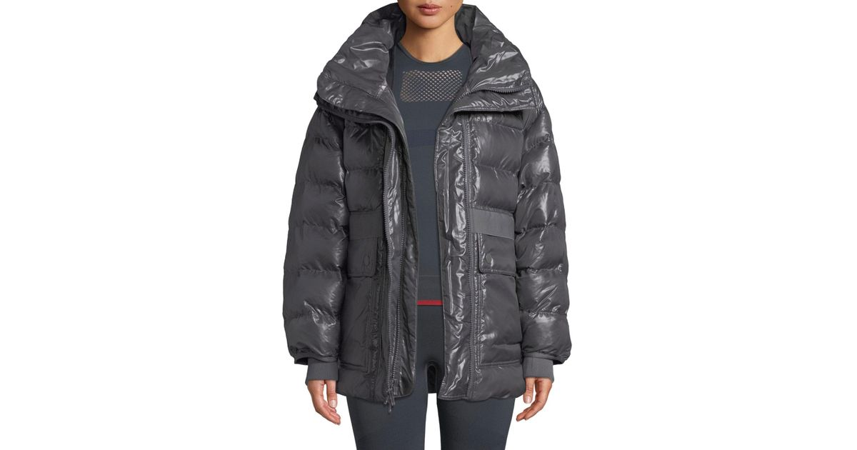 hot sale online 4e199 065ca Lyst - adidas By Stella McCartney Training Zip-front Parka Jacket in Gray
