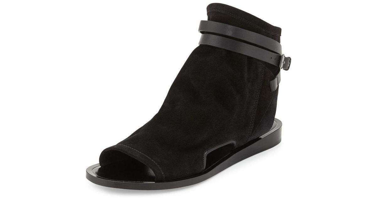 10fab4d3c175 Lyst - Vince Thalia Slouchy Suede Cutout Sandal in Black