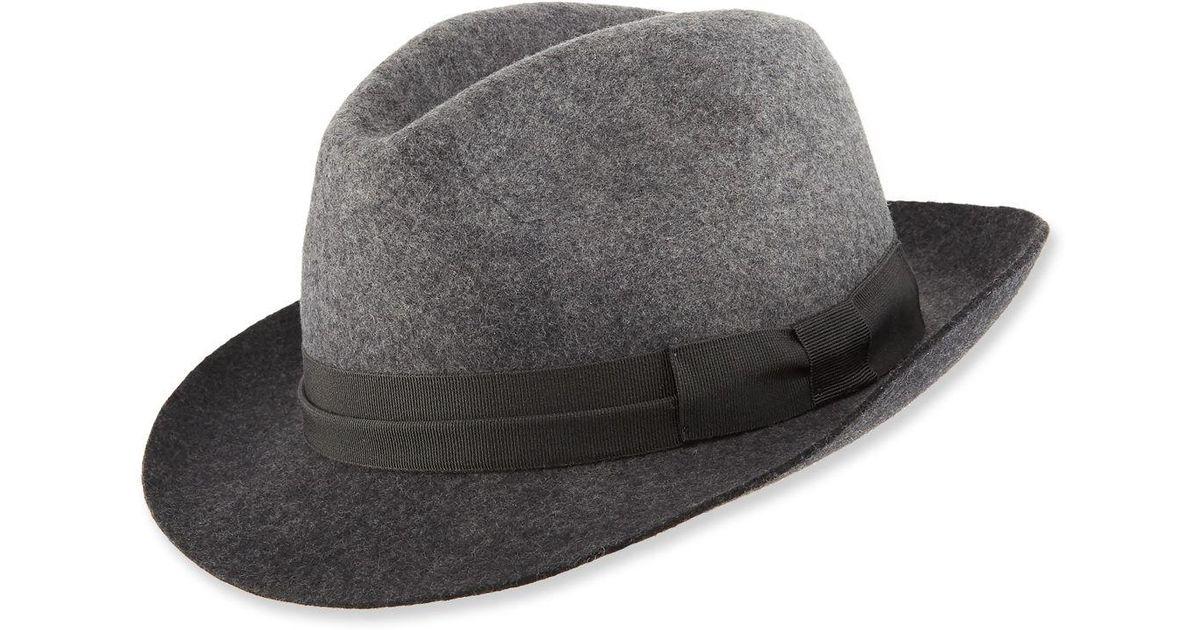 46802f72ec3bb7 Lyst - Paul Smith Men's Degrade Wool Fedora Hat in Black for Men