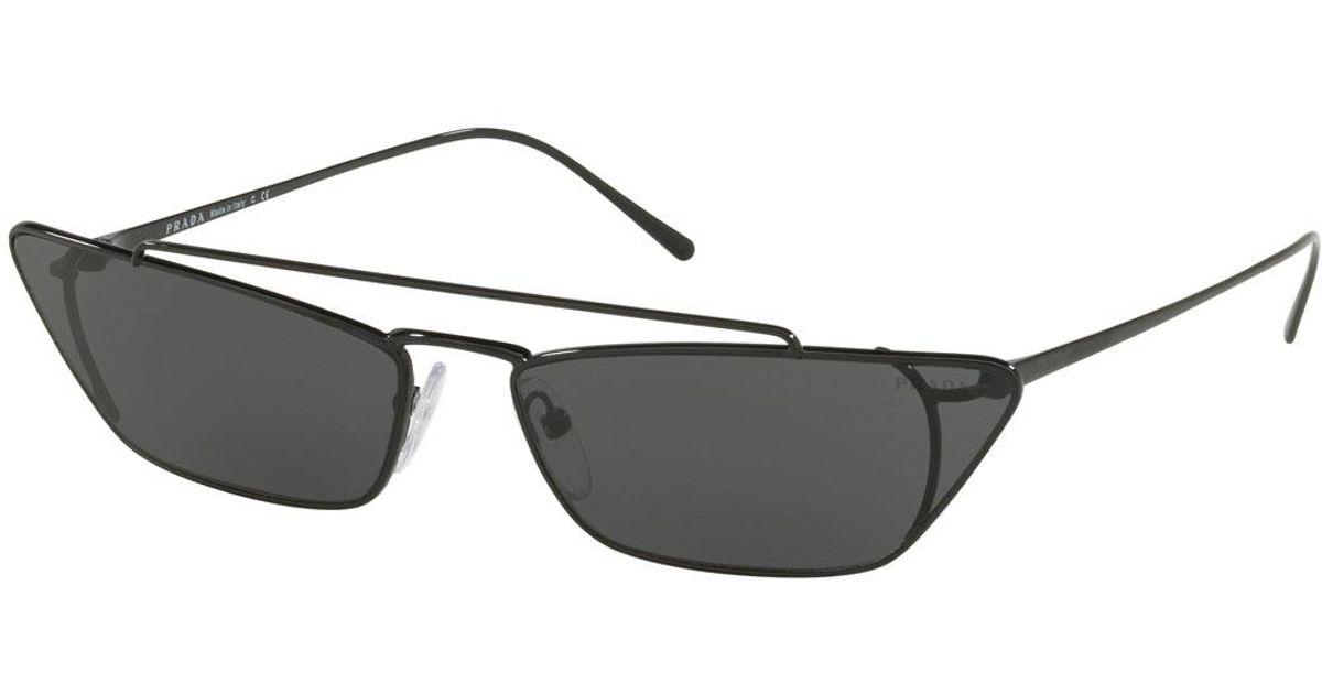 403294643591 ... new zealand lyst prada slim cat eye metal sunglasses in black 912f6  04647