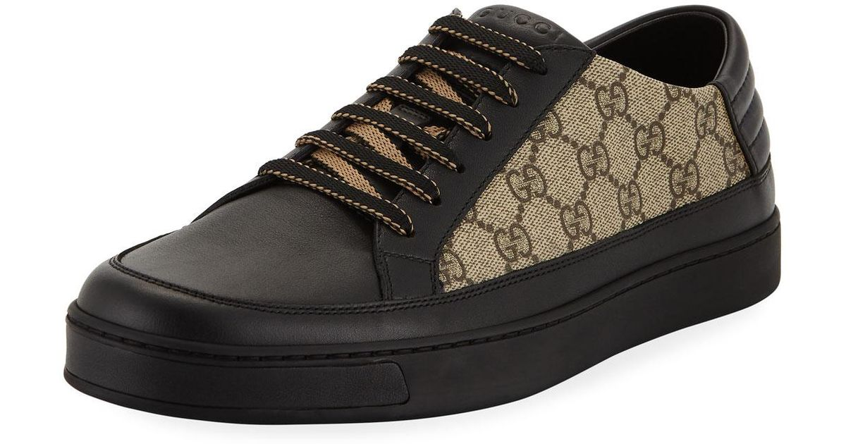 2cf1dfe72c3 Lyst - Gucci Men s Common GG Supreme Low-top Sneakers in Black for Men