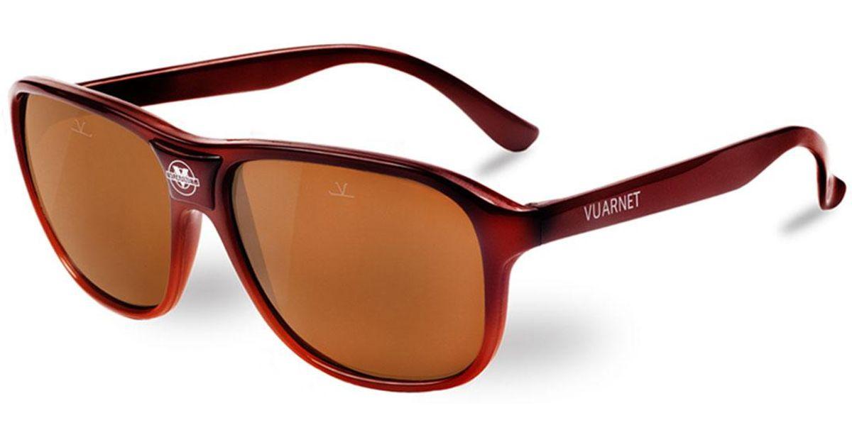 644caf85d15 Lyst - Vuarnet 03 Acetate Pilot Sunglasses in Brown