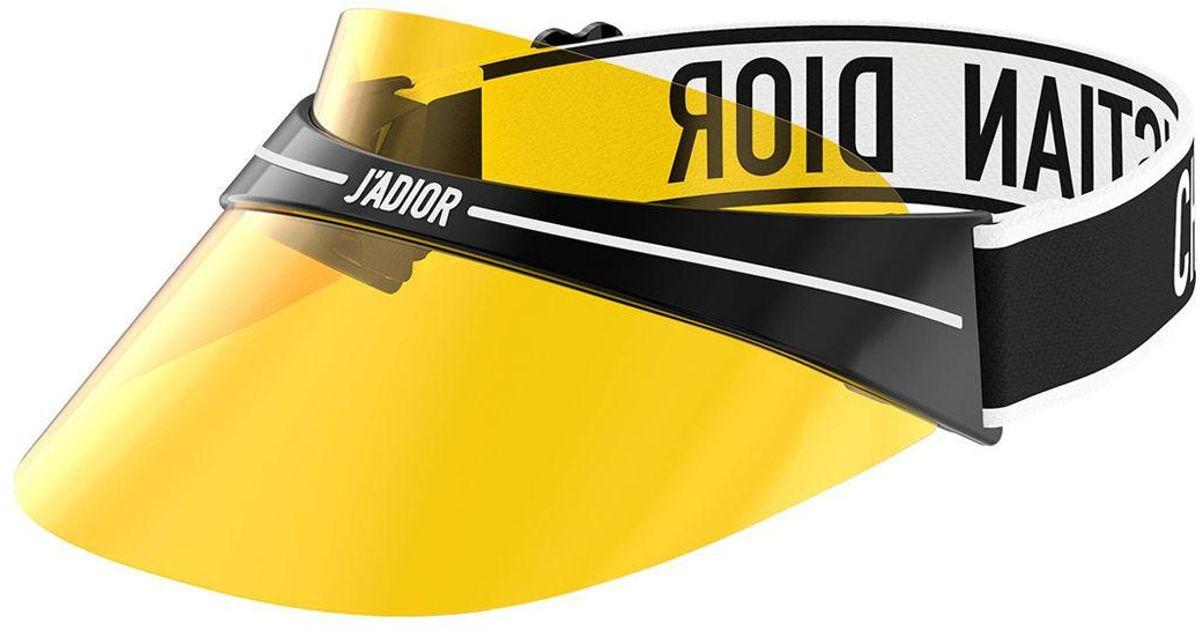 c0cb9ac1b8118 Lyst - Dior Club1 Transparent Logo Sun Visor in Yellow