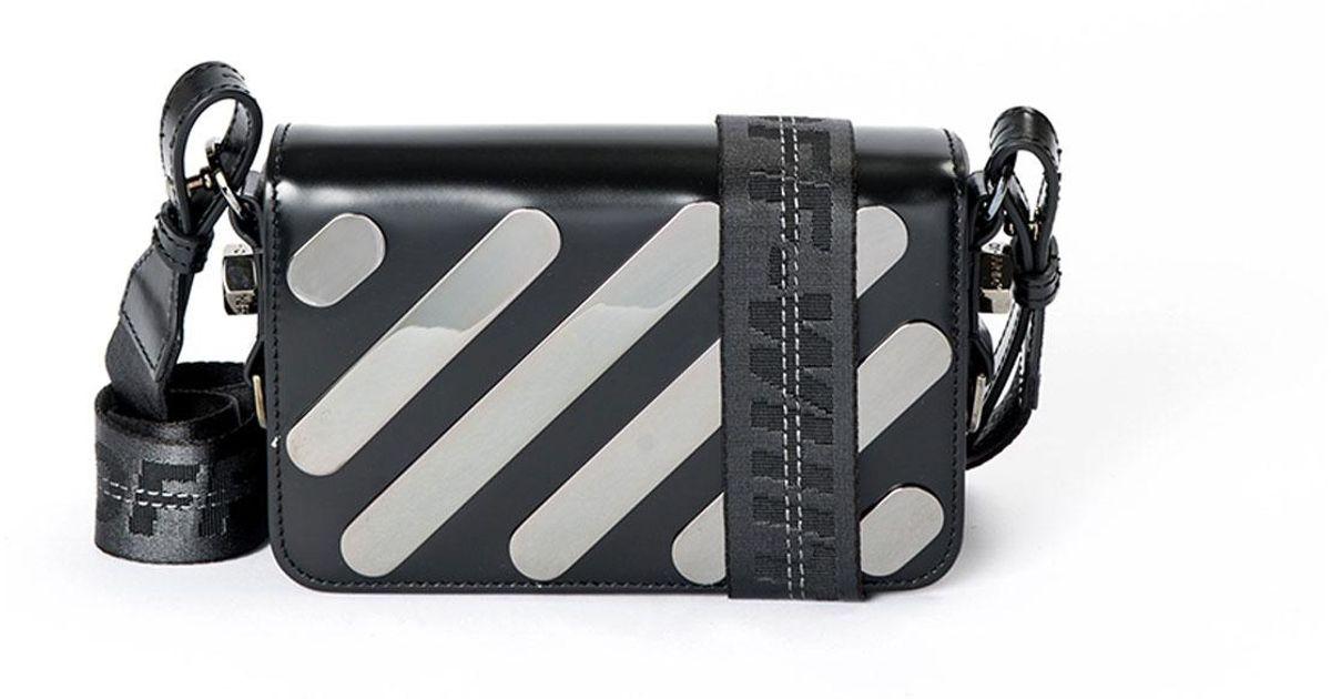 Off-white Metal Diagonal Square Mini Flap Bag WkFPAbGP0
