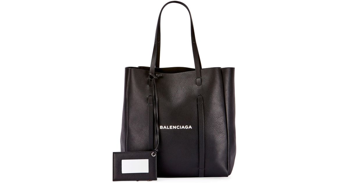 e2251d6fa6f Balenciaga Everyday Xs Logo Leather Tote Bag in Black - Lyst