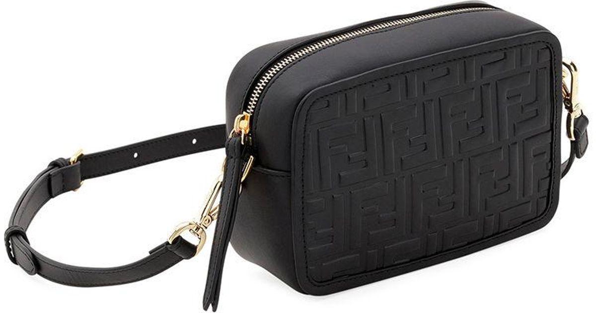 Lyst - Fendi Mini Ff Calf Camera Crossbody Bag in Black f06eca8715