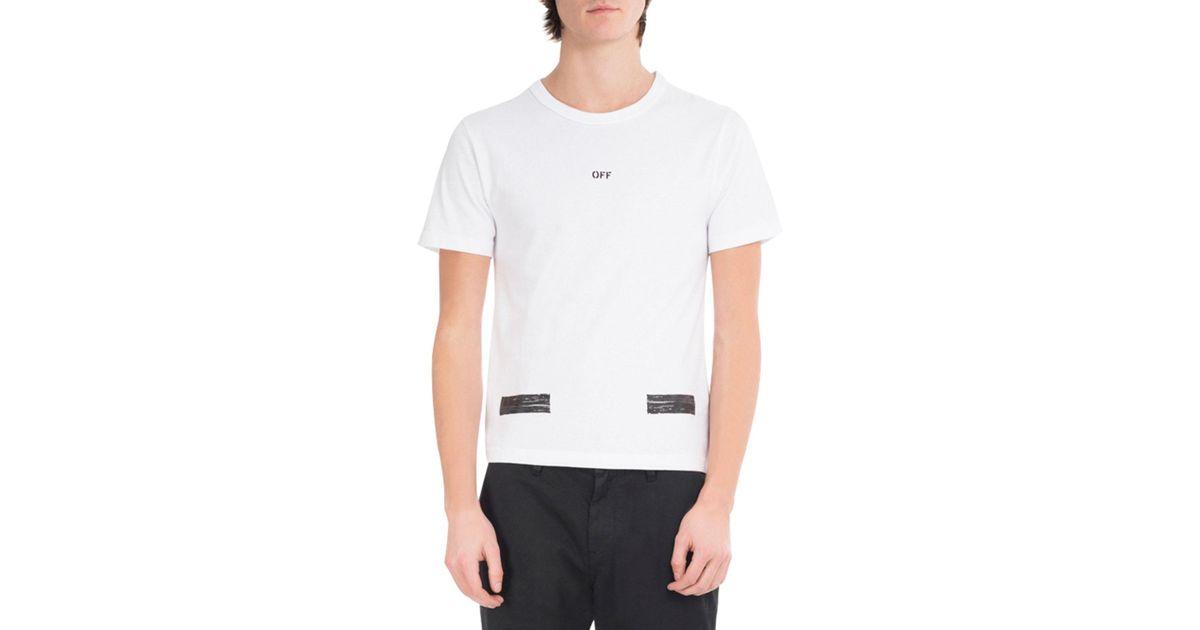 309e21c865b7 Lyst - Off-White c o Virgil Abloh Brushed Diagonal Arrows Cotton T-shirt in  White for Men