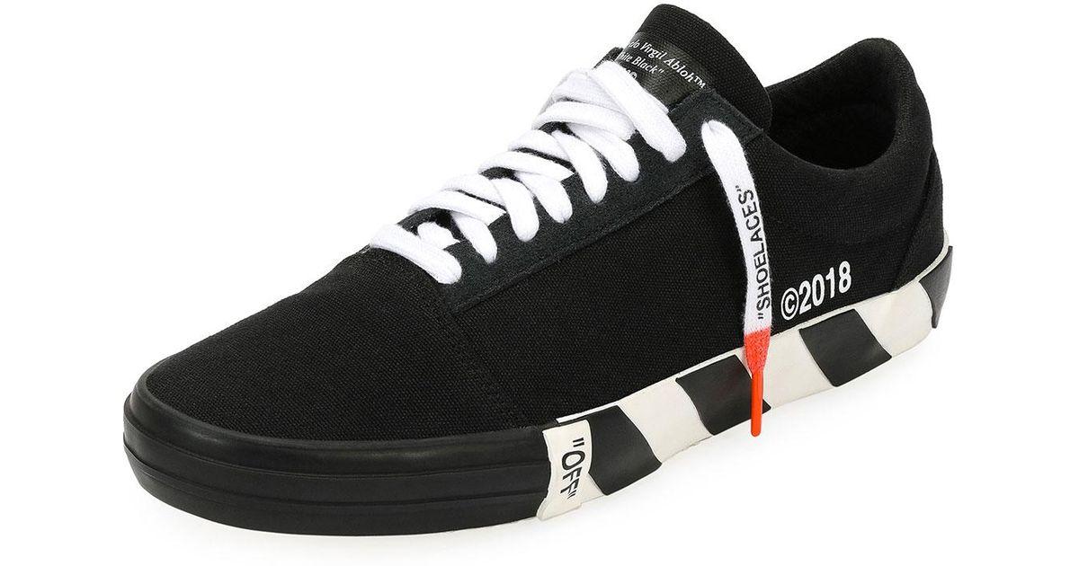 59c029355256 Lyst - Off-White c o Virgil Abloh Men s Vulc Striped-sole Canvas Low-top  Sneaker in Black for Men