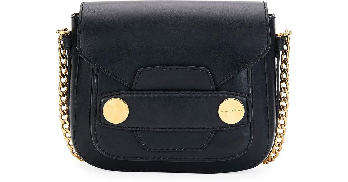 Lyst - Stella McCartney Popper Medium Faux-leather Crossbody Bag in Black 8fa13c0cde