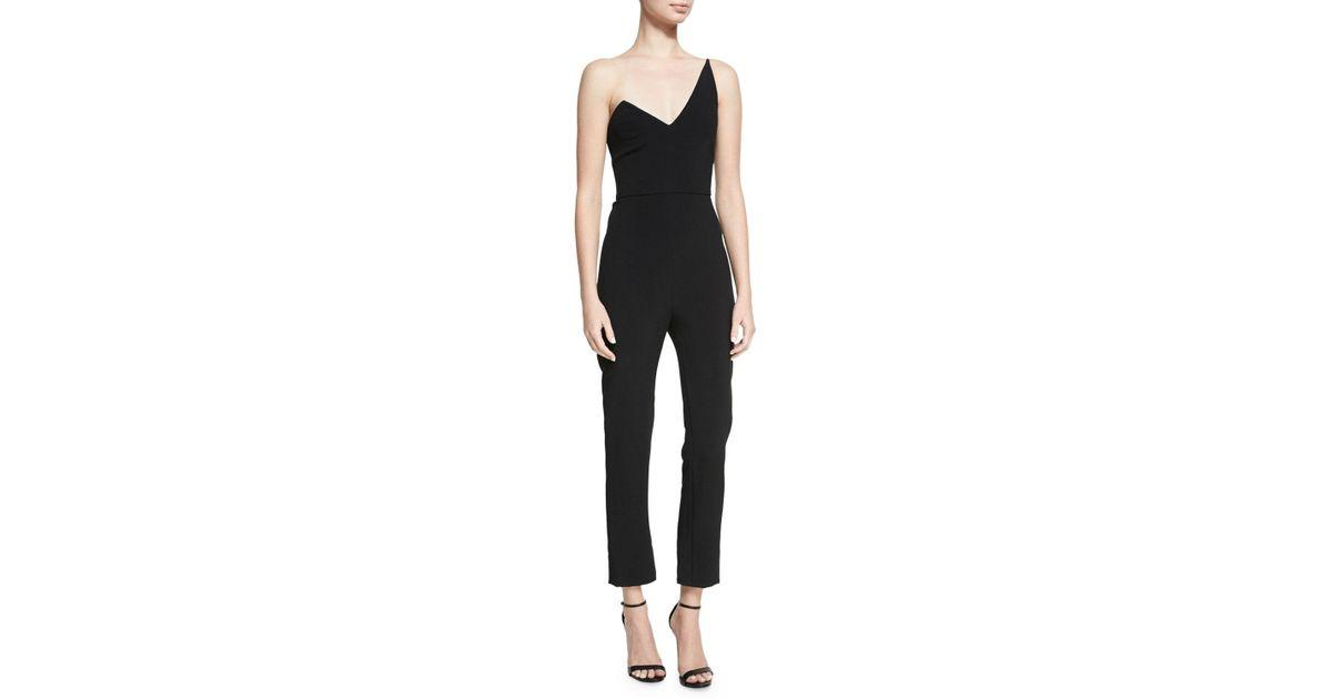 9b3735addac6 Lyst - Cushnie Et Ochs Stefanie One-shoulder Slim-leg Jumpsuit in Black