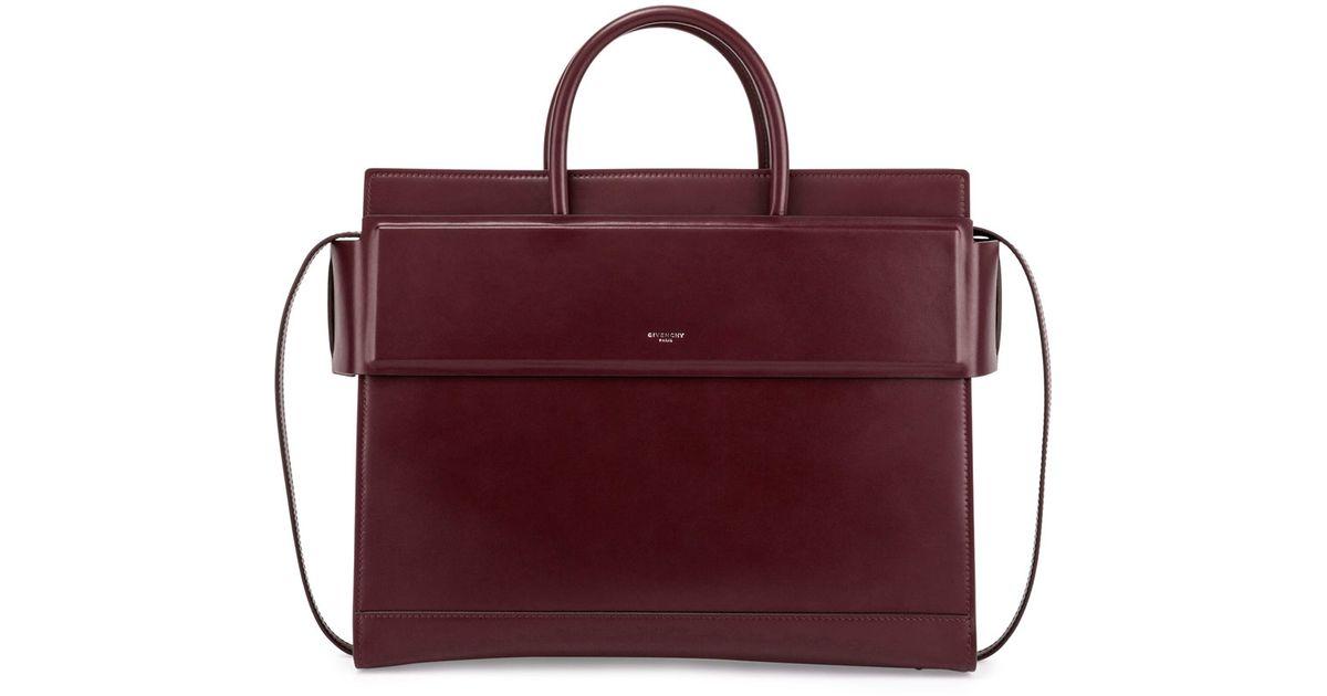 fcaedd4af186 Lyst - Givenchy Horizon Medium Leather Satchel Bag in Red