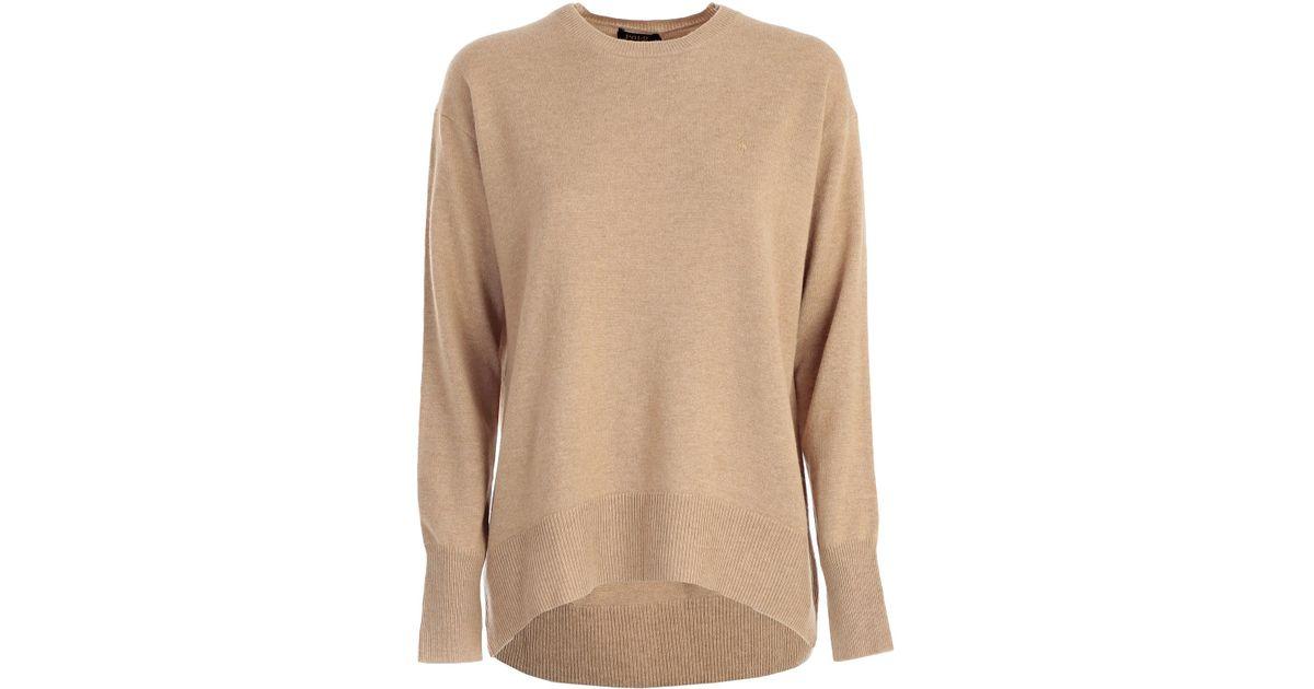 in vendita fd42b f00e7 Polo Ralph Lauren - Natural Maglia M/l Over Jersey E Lana - Lyst