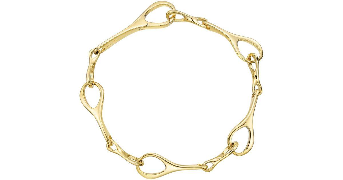 Lyst Gucci 18k Yellow Gold Fancy Link Bracelet In Yellow