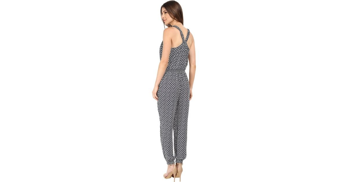 6f4f3da7a90 Lyst - Two By Vince Camuto Sleeveless Rabat Flower Racerback Jumpsuit in  Blue
