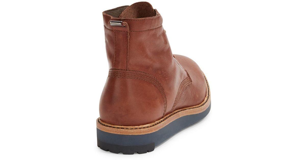 diesel jarghe leather high top boots in brown for lyst
