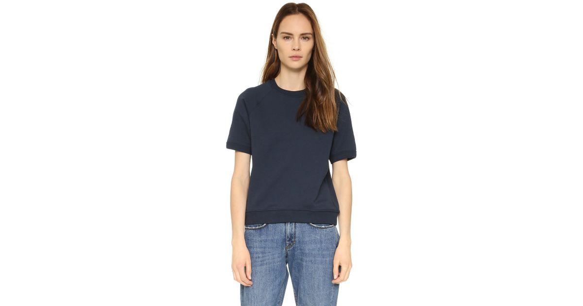 df354083206f2 Sincerely Jules Cara Short Sleeve Sweatshirt in Blue - Lyst