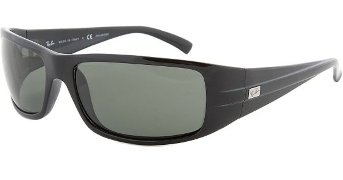 f9091d614b0 ... where to buy lyst ray ban eyewear rb4057 601 58 61 black frame green  lens in