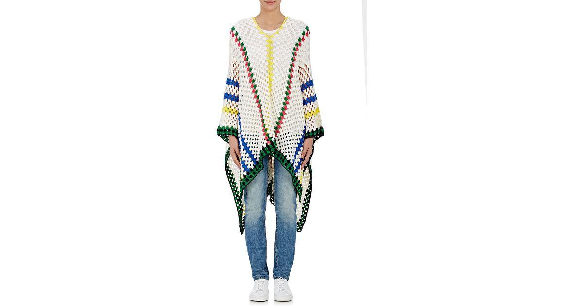 mira mikati women s striped crochet poncho lyst