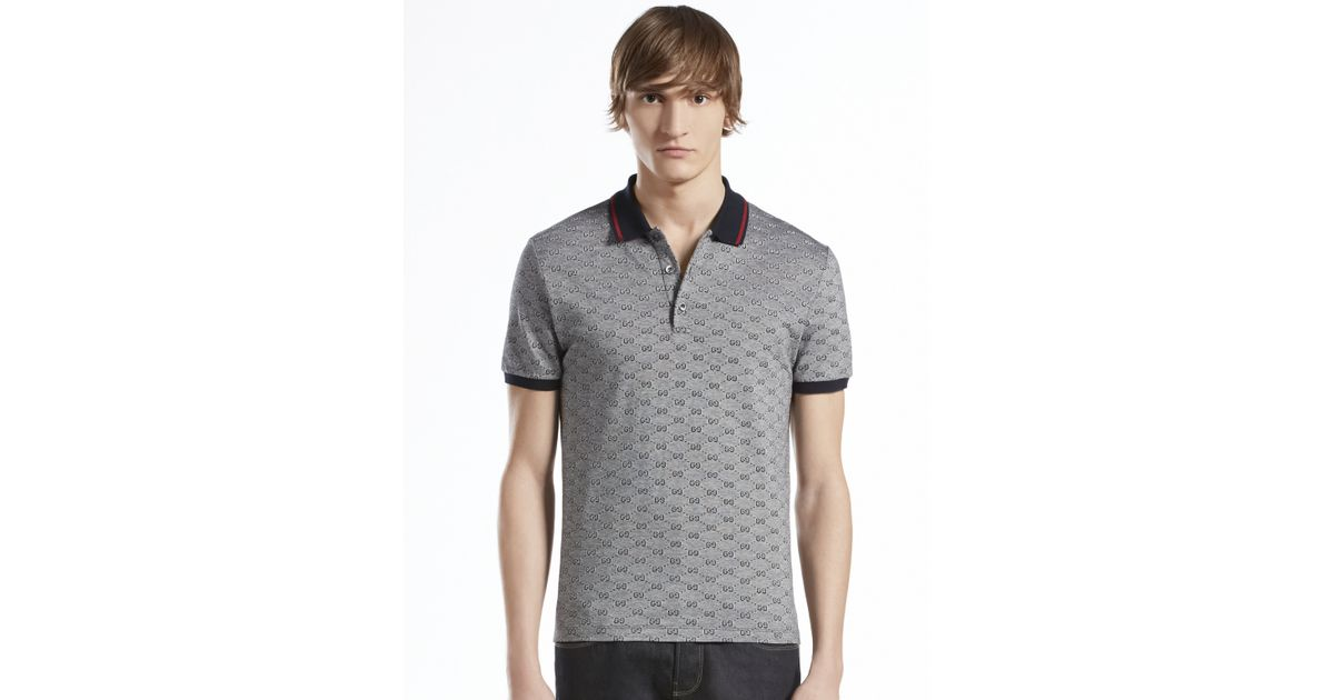 c16bc386 Gucci Gg Polo in Black for Men - Lyst