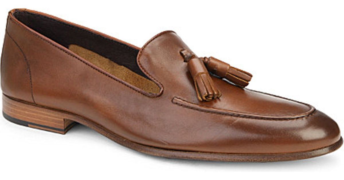 Lyst Kurt Geiger Alessandro Leather Loafers In Brown For Men