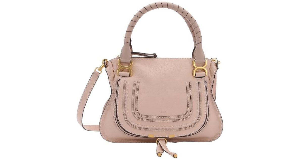faux chloe bags - Chlo�� Blush Nude Calfskin \u0026#39;marcie\u0026#39; Medium Convertible Top Handle ...