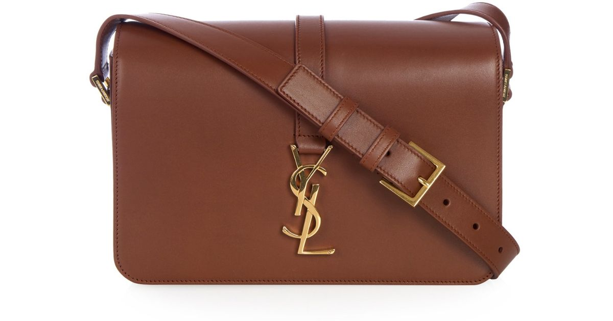 e21f4d4f063 Saint Laurent Université Medium Leather Cross-body Bag in Brown - Lyst