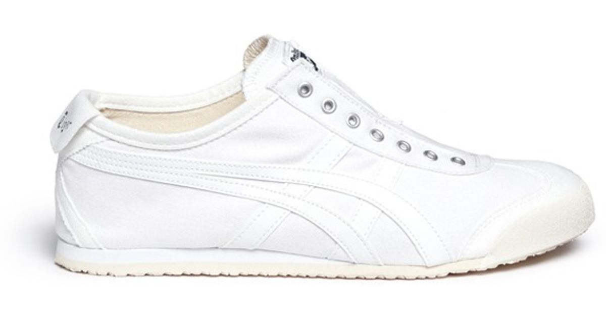 4178e99dda72 Lyst - Onitsuka Tiger  mexico 66  Canvas Slip-on Sneakers in White for Men