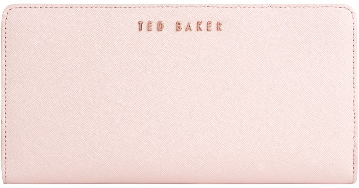 d9de06a4f9697a Ted Baker Alaniy Crosshatch Matinee Purse in Natural - Lyst