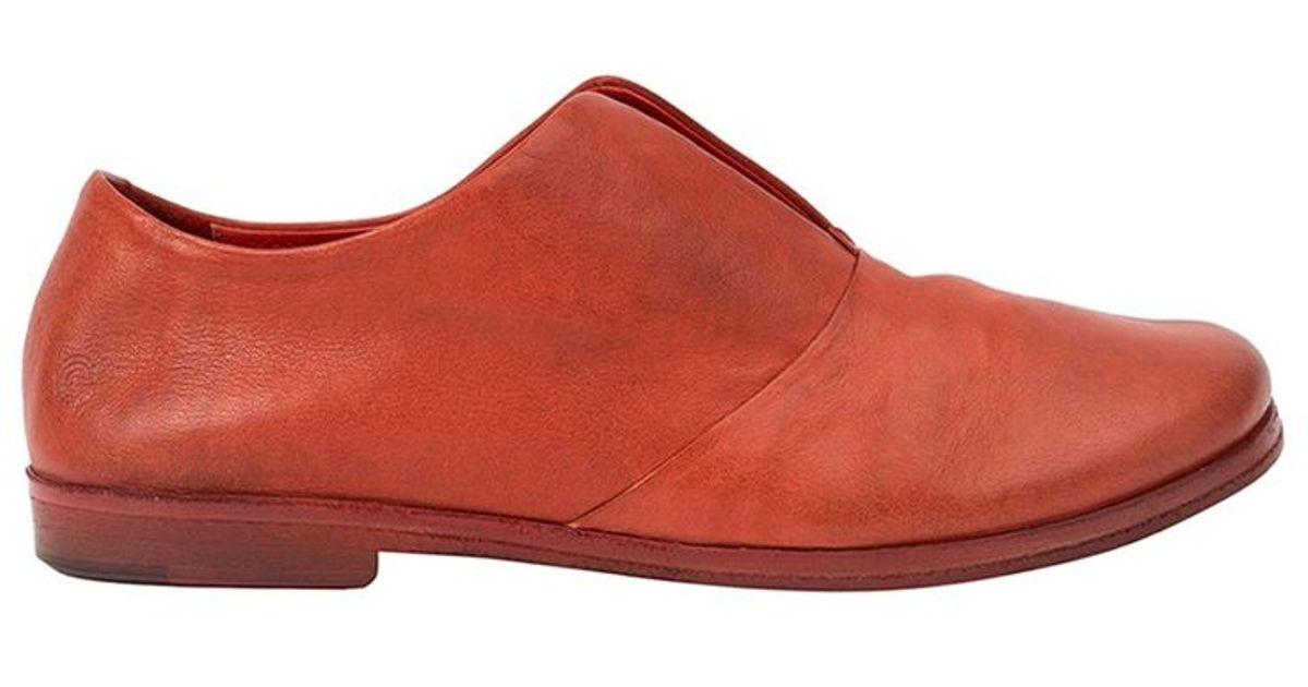 mars 232 ll stacked heel slippers in orange lyst