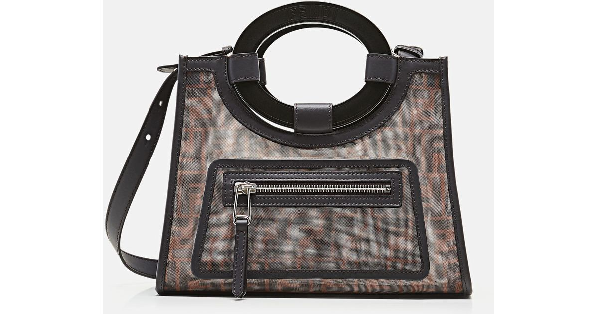 ad8978b33cf4 Lyst - Fendi Small Runaway Shopping Tote in Brown