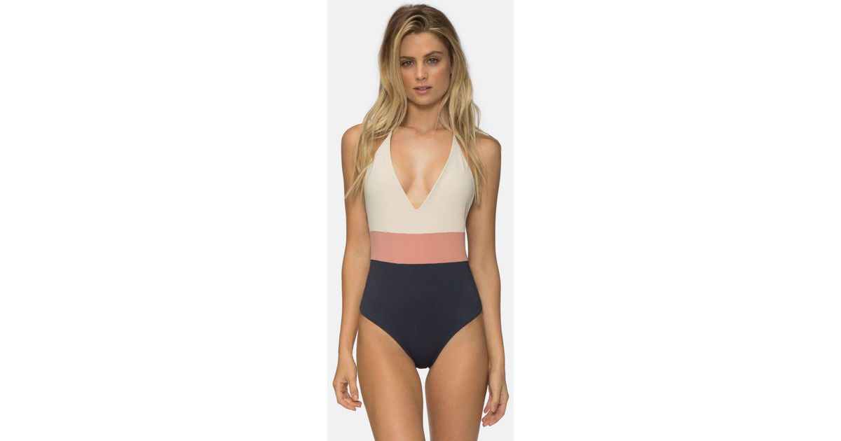 bc19498c08a6b Tavik Chase Reversible One Piece Swimsuit - Tapioca Color Block in Blue -  Lyst