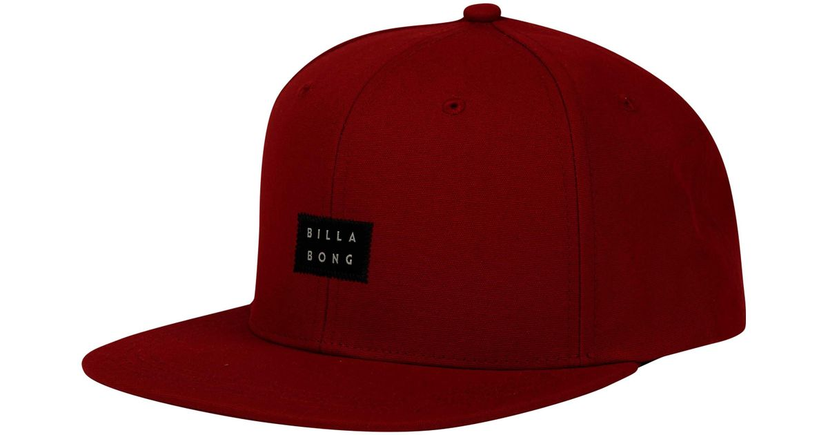 Lyst - Billabong Primary Snapback Hat in Red for Men - Save 50.0% b90842a13829