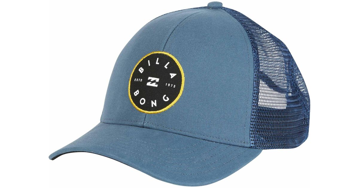 efc876f1b5758a Billabong Walled Trucker Hat in Blue for Men - Lyst